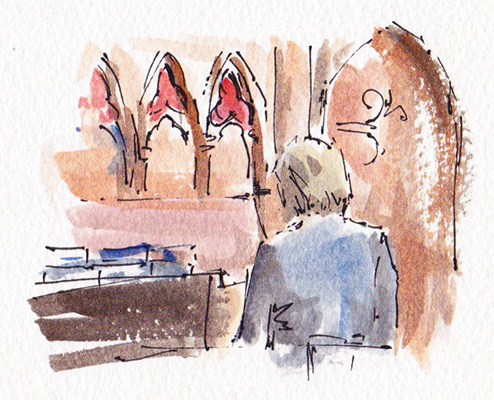 Wedding organist sketch