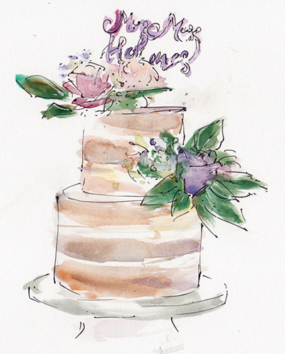 Wedding cake sketch