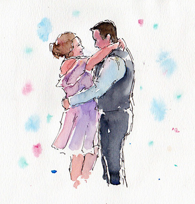 Wedding dance sketch