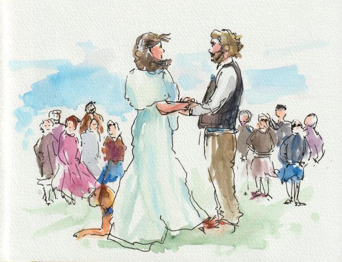 Wedding sketching